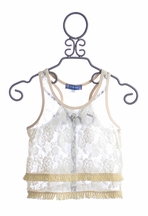 Truly Me Ivory Lace Tank Top (Size 12)
