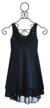 Truly Me Navy Special Occasion Dress (Size 7)