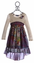 Truly Me Paisley Print Hi Lo Dress for Tweens (Size 14)