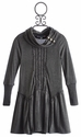 Truly Me Tween Cowl Neck Dress in Grey