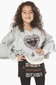 Truly Me Tween Heart Poncho and Shorts Set