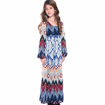 Truly Me Tween Maxi Dress in Navy Blue