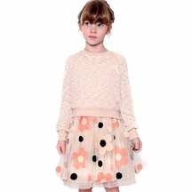 Truly Me Tween Top and Flower Skirt in Blush