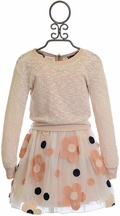 Truly Me Tween Top and Flower Skirt in Blush (10 & 14)