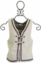 Truly Me Vest for Tweens in Ivory