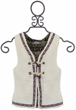 Truly Me Vest for Tweens in Ivory (7,8,10,14)