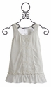 Truly Me White Tunic in Knit with Lace (Size 14)