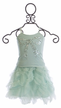 Tutu Du Monde Bow Top with Ruffled Skirt for Girls (Size 4/5)