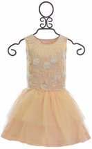 Tutu Du Monde Peach Tutu Dress Daisy Chain (8/9 & 10/11)