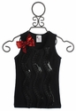 Twirl and Co Girls Black Holiday Tank with Bow