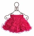 Twirl & Co Little Girls Skirt Fuchsia Twisted Ruffles