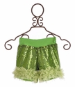 Twirl & Co Sequin Lime Shorts for Girls