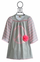 Twirls and Twigs Girls Dress Pink Peace Sign