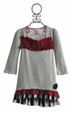 Twirls and Twigs Little Girls Dress with Plaid Ruffle