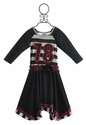 Twirls and Twigs Striped Number Dress for Girls