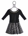 Un Deux Trois Black and White Designer Skirt and Top