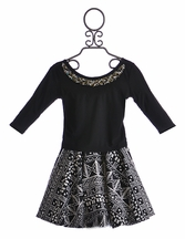 Un Deux Trois Black and White Designer Skirt and Top (LG 14 & XL 16)
