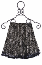 Un Deux Trois Black Lace Overlay Skirt for Girls