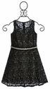 Un Deux Trois Black Lace Tween Party Dress