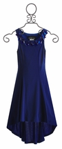 Un Deux Trois Girls Special Occasion Dress Cobalt Blue (Size 12)
