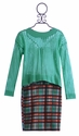 Un Deux Trois Knit Sweater and Matching Skirt Set (SM 7/8, XL 16)