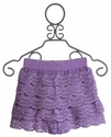 Un Deux Trois Lilac Crochet Lace Shorts for Tweens