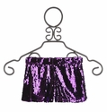 Un Deux Trois Sequin Shorts for Tweens in Purple