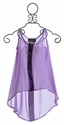 Un Deux Trois Sheer Lilac Top for Tweens