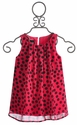 Un Deux Trois Sleeveless Tween Top in Pink Dot