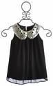 Un Deux Trois Tween Chiffon Top with Sequin Collar (Size 10 & 16)