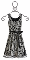Un Deux Trois Tween Girls Dress Black and White Lace