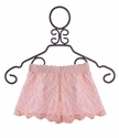 Un Deux Trois Tween Girls Lace Shorts in Peach (Size MD 10/12)