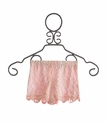 Un Deux Trois Tween Girls Lace Shorts in Peach