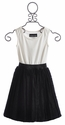 Un Deux Trois Tween Party Dress with Lace Skirt