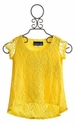 Un Deux Trois Yellow Lace Top High Low Hem (LG 14, XL 16)