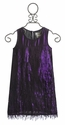 US Angels Girls Fringe Dress in Shimmer Plum (Size 4, 5 & 7)