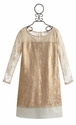 US Angels Gold Lace Tween Party Dress