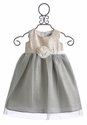 US Angels Little Girls Fancy Dress with Silver Tulle