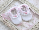 Victoria Kids Infant Girls Booties White with Rose