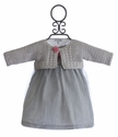Victoria Kids Infant Party Dress and Bolero Set in Silver