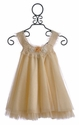 Victoria Kids Little Girls Party Dress Shimmering Gold