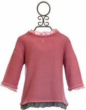 Vierra Rose Designer Sweater for Tweens in Pink