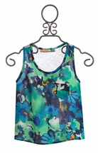 Vintage Havana Floral Tank with Crochet Back (Size MD 10)