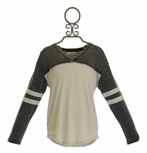 Vintage Havana Girls Baseball Tee in Charcoal (Size XL 14)