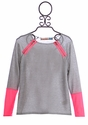 Vintage Havana Girls Long Sleeve Top with Pink Zippers (MD 10 and LG 12)