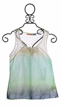 Vintage Havana Girls Tank with Crochet Open Back (MD 10 & LG 12)