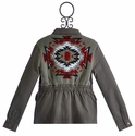 Vintage Havana Gray Jacket for Tweens with Tribal Back
