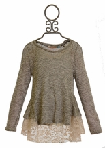 Vintage Havana Lace Sweater for Girls (MD 10 & LG 10/12)