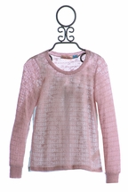 Vintage Havana Pink Chiffon Back Top for Tweens (Size MD 10)