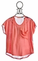 Vintage Havana Tween Orange Top with Chiffon Back